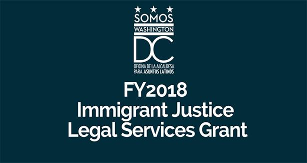 Immigrant Justice Legal Services Grant FY 2018