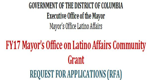 FY17 Mayor's Office on Latino Affairs Community Grant Request for Applications (RFA)